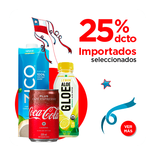 productos importados 25% descuento