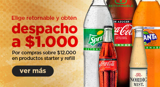DESPACHO A $1.000 EN COMPRAS SOBRE $12.000