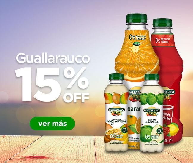 Jugos Guallarauco con 15%off