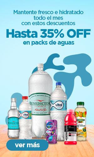 Packs de aguas hasta 35% OFF