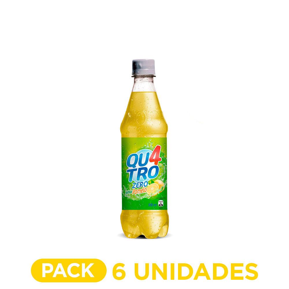 Quatro Pomelo Zero Botella 500 ml  Pack 6 un